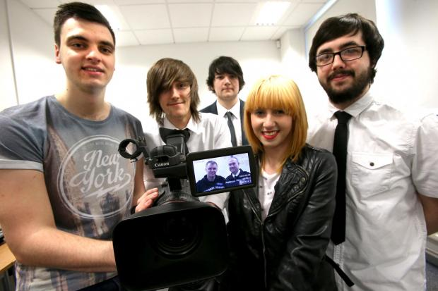 The Advertiser Series: Darlington College students (L-R) Reece Nash, Aiden Fisher, Aaron Ball, Danielle Jameson and James Liddell