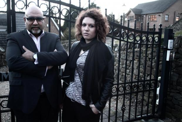 The Advertiser Series: Trevor Lazaro and his younger daughter Yasmin pictured outside David Reid's Burnhope home