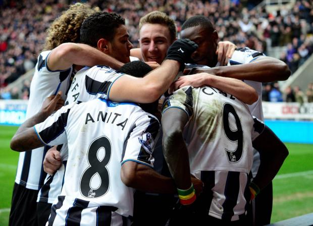 The Advertiser Series: MAGIC MOMENT: Newcastle celebrate Papiss Cisse's goal