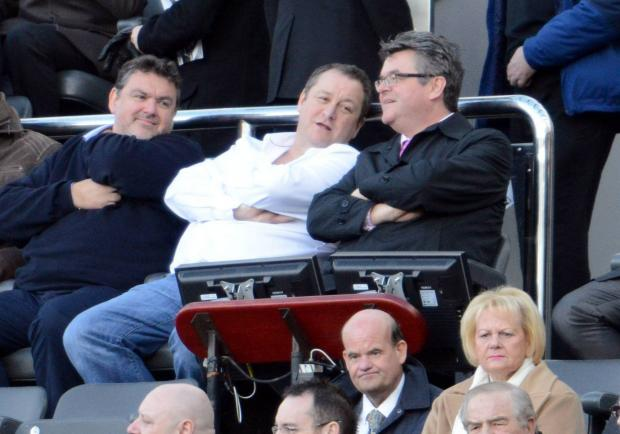 The Advertiser Series: SHOWING HIS SUPPORT: Mike Ashley was watching Saturday's win over Palace
