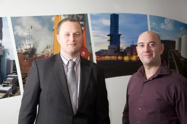 The Advertiser Series: Aspire's Stephen McNickle (left) with Mark Willis, ICT support leader for PX