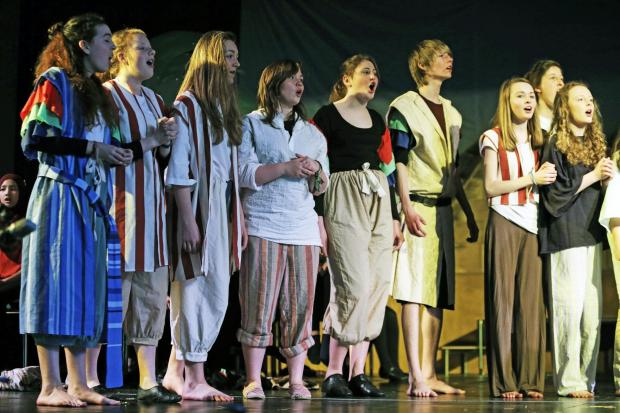 The Advertiser Series: Pupils rehearse Joseph and the Amazing Technicolour Dreamco