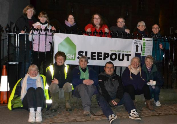 The Advertiser Series: People taking part in the Northallerton Sleepout on March 22