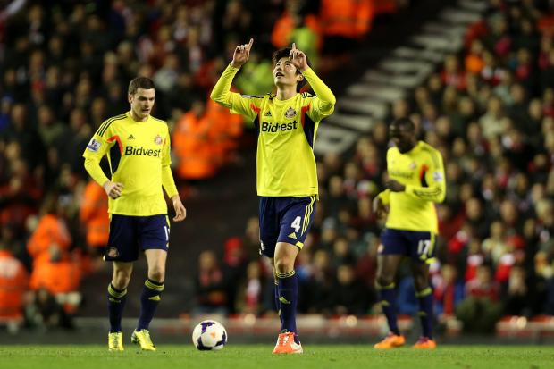 The Advertiser Series: LATE HOPE: Sunderland's Ki Sung-Yeung celebrates after scoring
