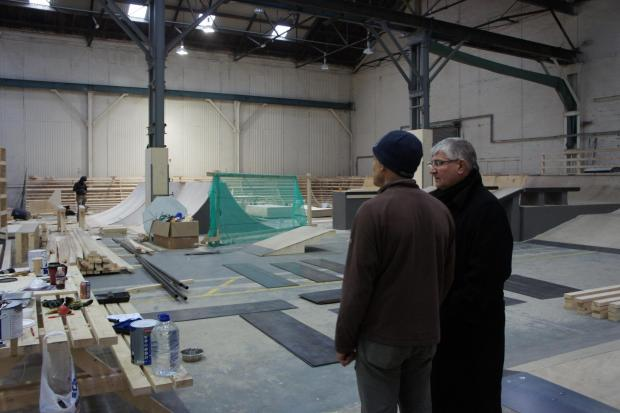 The Advertiser Series: Mr Hogg views the facilities at the new Darlington skate park