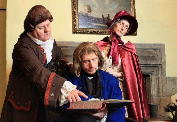 The Advertiser Series: l-r Paul Maddison as Mr Lorry, Graeme Walton as Sydney Carlton and Nikke Hellmuth as Miss Pross