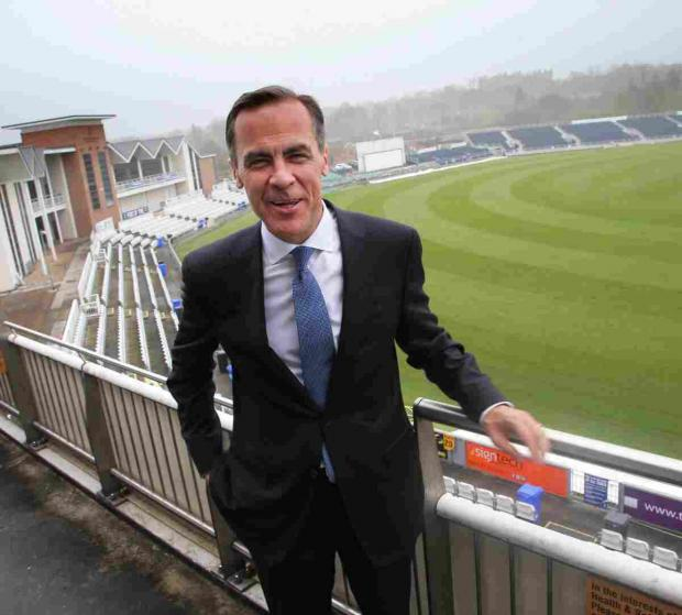 The Advertiser Series: Mark Carney at Durham County Cricket Club on Wednesday