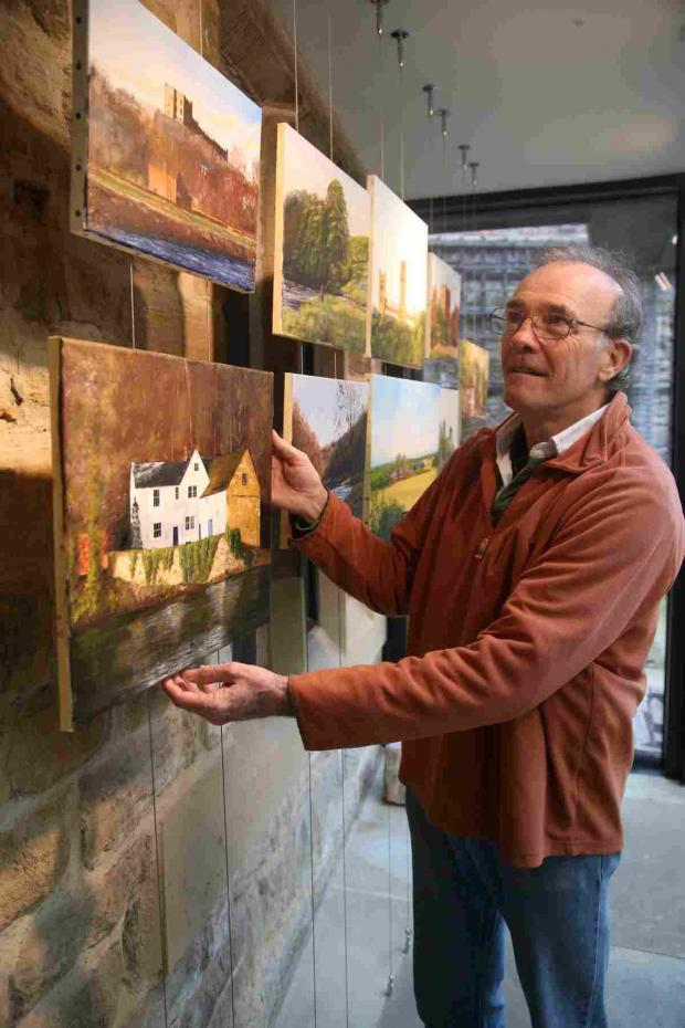 The Advertiser Series: Artist Peter Hemming hangs h