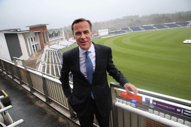 The Advertiser Series: Mark Carney at Durham County Cricket Club's ground