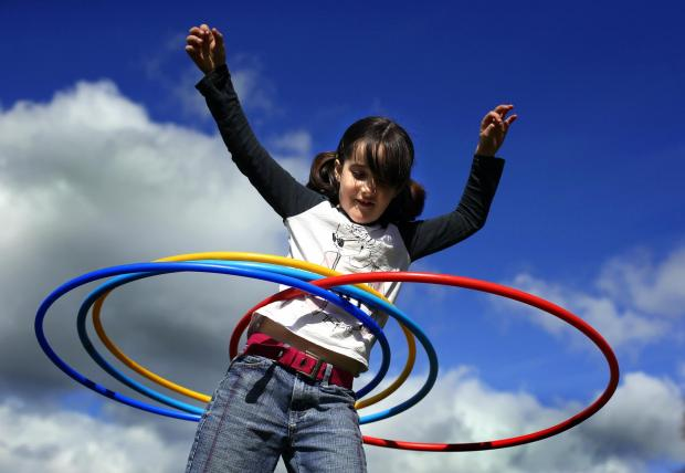 The Advertiser Series: Groundworks host an outdoor playgroup for children. Pictured with hula hoops is Elisha Wright (8)