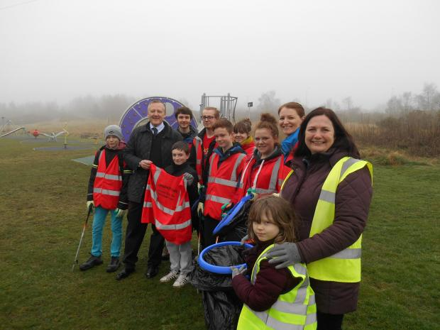The Advertiser Series: Pupils at the litter pick