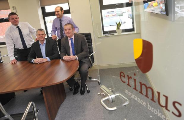 The Advertiser Series: Shaun Hughes, managing director of Erimus Insurance Brokers, with, from left, Grant Jones, Neale Wytcherley and R