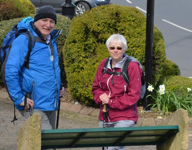 The Advertiser Series: WALKING CHALLENGE: Ian Tallentire and Lynda Bares, of the Upper Teesdale Tourism Network