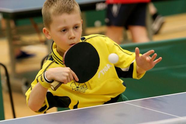 The Advertiser Series: Darlington Table Tennis Academy member Leo Pontone, eight, during training at Longfield School in Darlington