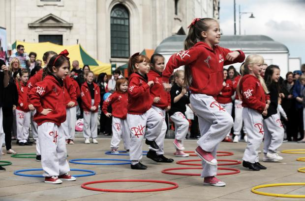 The Advertiser Series: Members of Red Hall Dance Company performing recently in Darlington Market Square