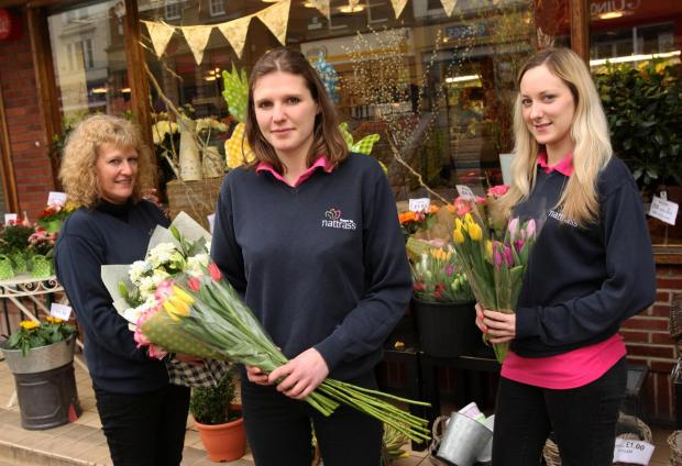 The Advertiser Series: BLOOM WOES: The branch of Nattrass, in West Row, Darlington, will shut its doors on Saturday after 20 years. Pictured from the left are staff members -Sally and Katie Bennett and Laura Simpson.
