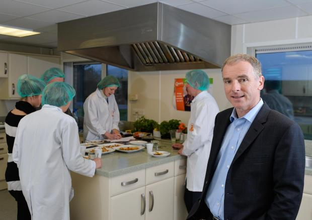 The Advertiser Series: Kevin Brennan, Quorn Foods' chief executive, pictured in a test kitchen