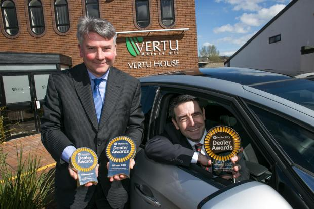 The Advertiser Series: Richard Povey, dealer development manager at Motability, with David Crane, of Vertu Motors