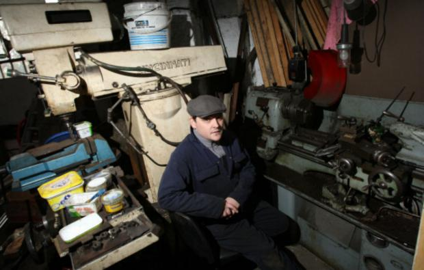 The Advertiser Series: DRPS member Paul Bailey with some of the equipment at the Goods Shed that can't be used because of electricity supply problems at their workshop