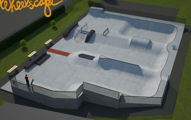 The Advertiser Series: PROJECT: An artist's impression of the new skatepark in Ripon.