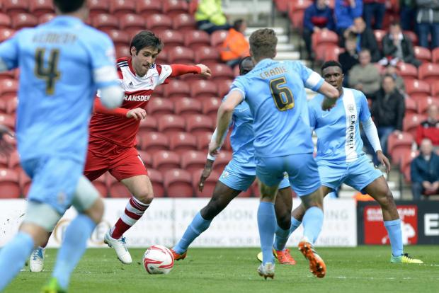 The Advertiser Series: ON THE FRONT FOOT: On loan Middlesbrough striker Danny Graham, in action against Barnsley at the weekend