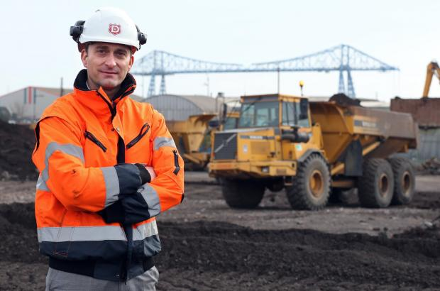 The Advertiser Series: AV Dawson managing director Gary Dawson on the site of the £6m steel storage shed