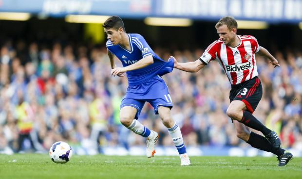 The Advertiser Series: DON'T GO DOWN: Lee Cattermole, pictured fouling Chelsea's Oscar last month, says his Sunderland team-mates are aware of the consequences should Sunderland suffer relegation from the Premier League