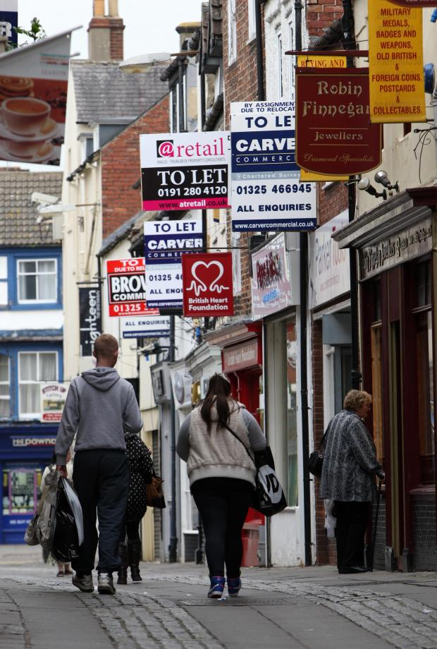 The Advertiser Series: SIGN OF TIMES: To Let signs compete for space in Post House Wynd, Darlington