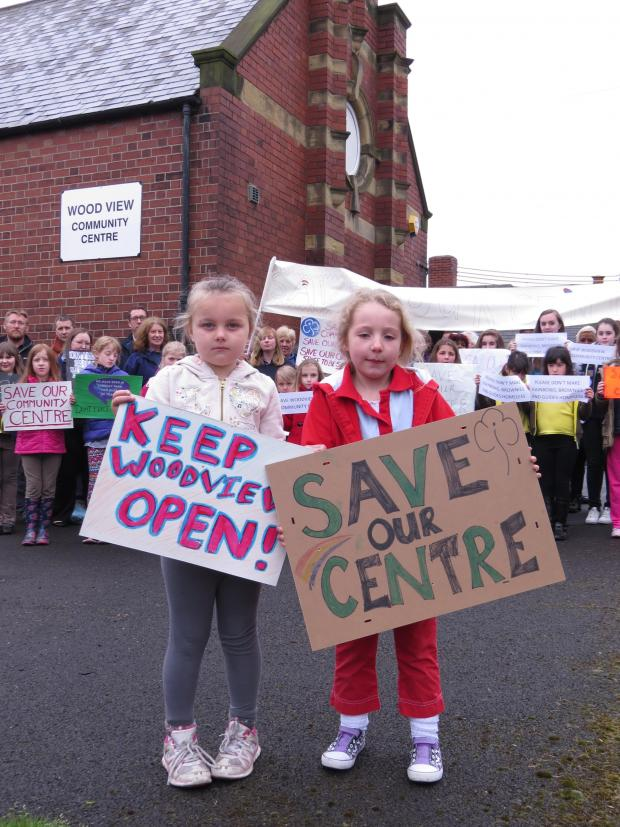 The Advertiser Series: Isla Scott, six, and Emmerson Cooke, five, lead the protest
