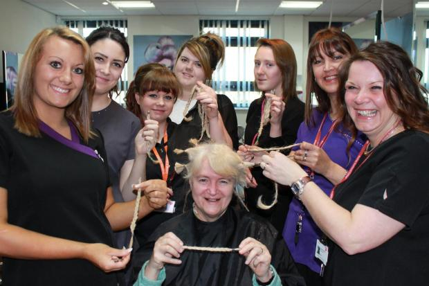 The Advertiser Series: CHARITY HAIR: Halina Holman donates hair at