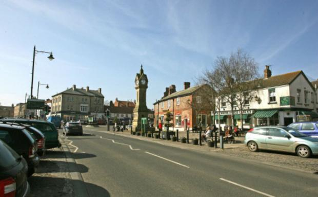 The Advertiser Series: FELLED: The birch trees in Thirsk Market Place.
