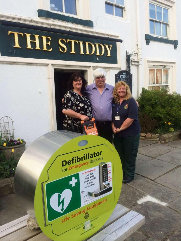 The Advertiser Series: Caption left to right:: Wendy and David Humphreys, with community defibrillator trainer Jayne Scott