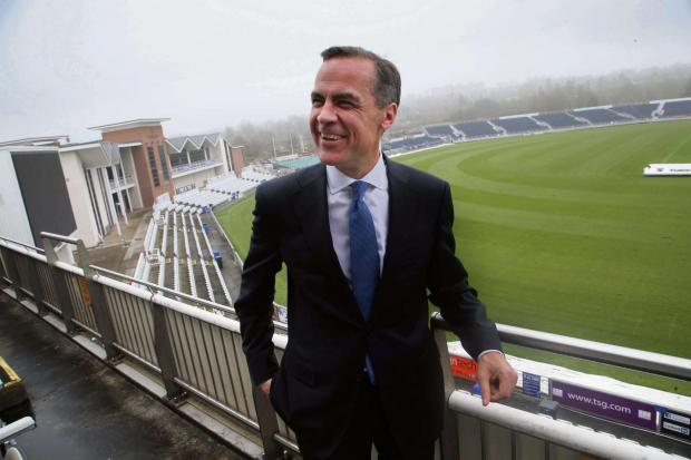 The Advertiser Series: RATE RE-THINK: Mark Carney, Governor of the Bank of England, speaks to The Northern Echo at Durham County Cricket Club's Chester-le-Street ground earlier this year