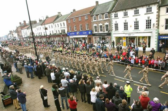The Advertiser Series: FREEDOM MARCH: Scenes from a previous year's parade of 10 Field Squadron from RAF Leeming in Northallerton.