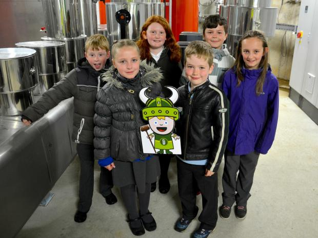 The Advertiser Series: Children from St Michael's CofE Primary School, Esh, during a visit to Emerald Biogas