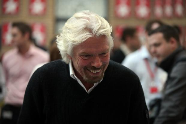 The Advertiser Series: Sir Richard Branson at Virgin Money's offices in Newcastle