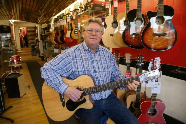 The Advertiser Series: SHUTTING SHOP: Ron Howe who is closing his business Ron's Music in Darlington.Picture: Andy Lamb