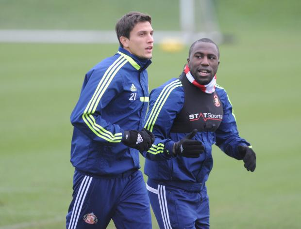 The Advertiser Series: Staying? Sunderland defender Santiago Vergini, pictured alongside striker Jozy Altidore, could stay on Wearside