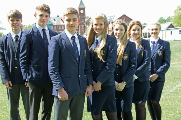 The Advertiser Series: NEW TEAM: The new school officers who have been appointed to lead the student body at Ripon Grammar School 2014-15, (L-R) Joseph Lewis, Tom Stringer, head boy Nicholas Edwards, head girl Lauren Langham, Melody Swiers, Sophie Charlton and Hann