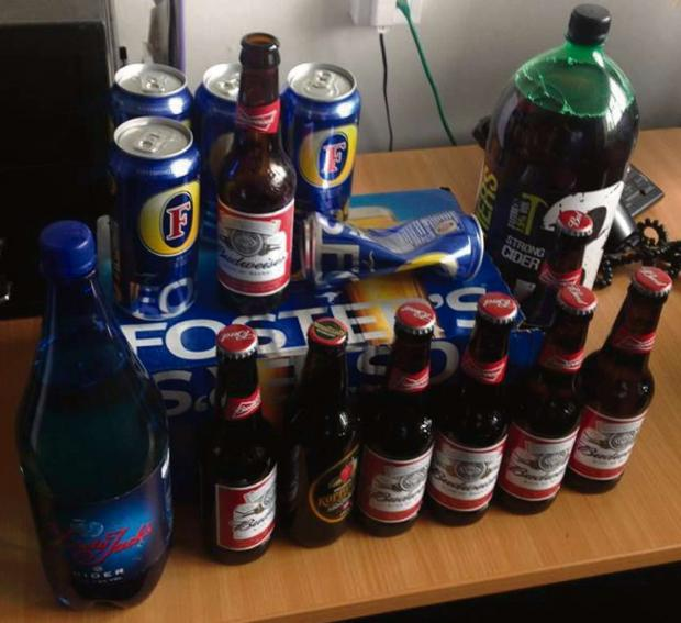 The Advertiser Series: Some of the alcohol seized by police as part of Operation Staysafe
