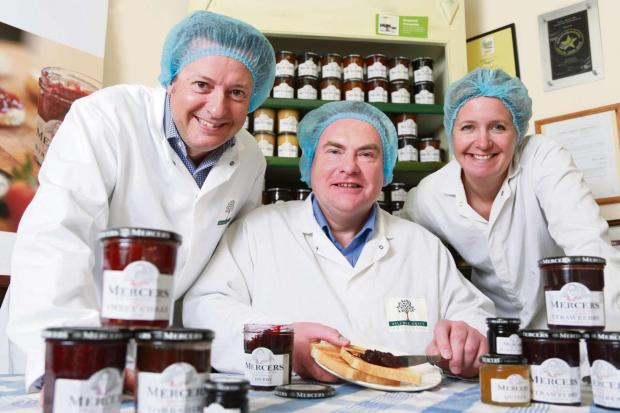 The Advertiser Series: SERVING SUCCESS: Andrew Nicholson, centre, with Paul and Lizzie Mercer, from York Speciality Foods