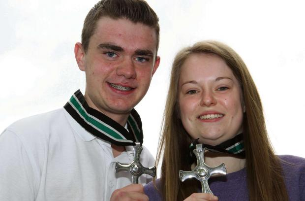 The Advertiser Series: CUTHBERT CROSS: Northallerton College students Jack Cornforth and Hannah Kirk.