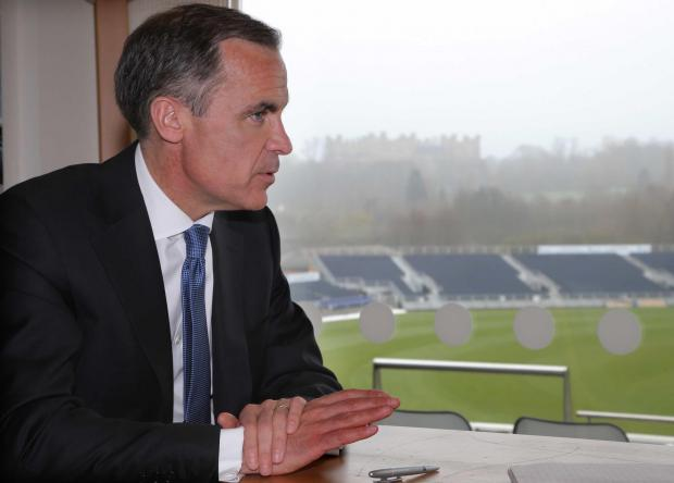 The Advertiser Series: Mark Carney, Governor of the Bank of England at the cricket ground in Chester-le-Street.