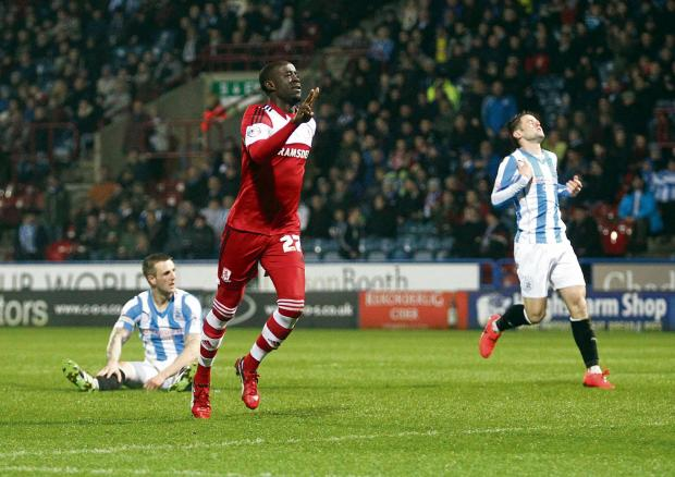 The Advertiser Series: Storm: Middlesbrough's Albert Adomah scored at Huddersfield on his way to grabbing 12 goals