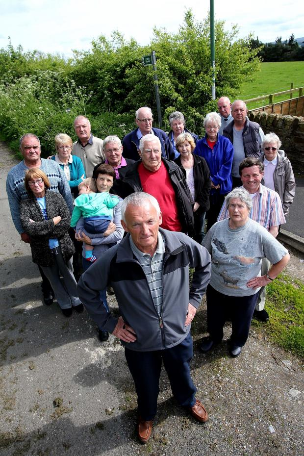 The Advertiser Series: HOUSING CONCERNS: Some of the residents unhappy with a proposed housing development at the end of Green Lane, in Barnard Castle Picture David Wood