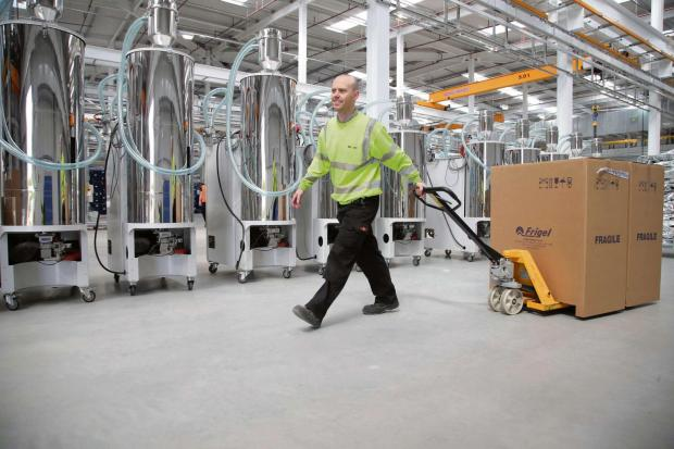 The Advertiser Series: Worker Adam Moffat brings goods into Nifco UK's factory at Eaglescliffe