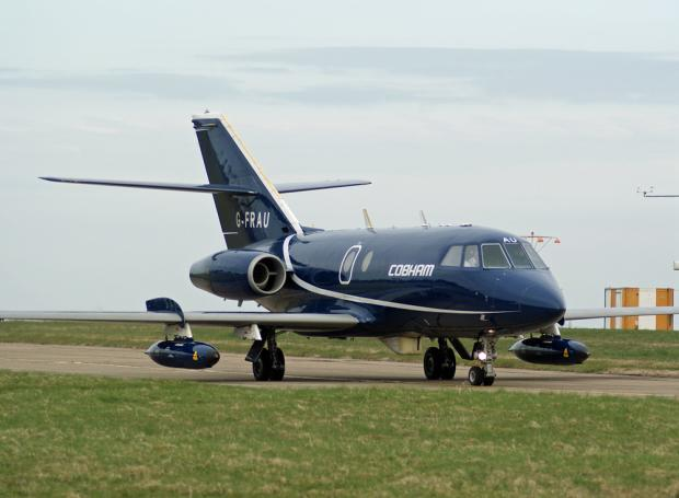 The Advertiser Series: ON DUTY: A Cobham Aviation Services Dassault Falcon 20 plane