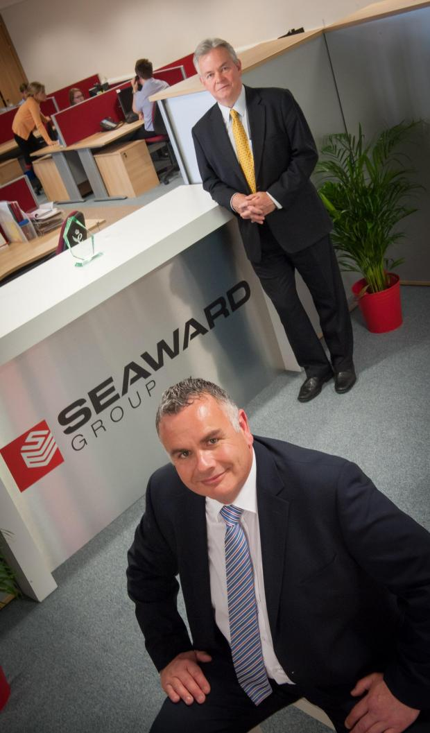 The Advertiser Series: GROWING FORCE: Rod Taylor, Seaward Group managing director, standing, with commercial director Julian Grant