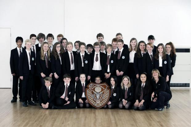 The Advertiser Series: SWIM CHAMPIONS: Hummersknott Academy's swimming team with the Darlington Gala ShieldPicture: STUAR