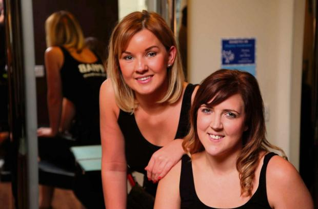 The Advertiser Series: CHARITY GIRLS: Hairdressers Laura Robinson and Clare Jackson, from Spennymoor, are putting on a fundraising ball for diabetes charity     Picture: ANDY LAMB